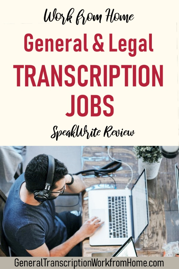 Transcription Jobs With SpeakWrite - Make Money Working from