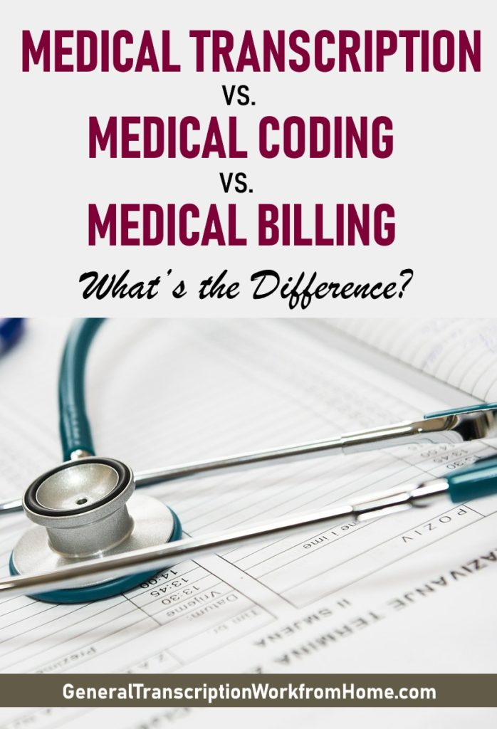 Medical Transcription Vs Medical Coding Vs Medical Billing