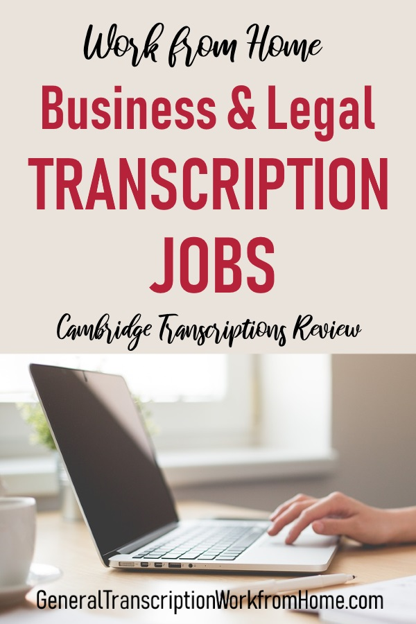 Work from Home Business & Legal Transcription Jobs With